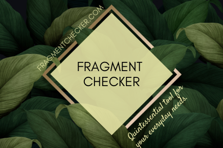 free online sentence fragment checker and corrector