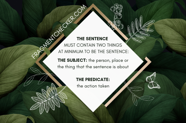 how to correct a sentence fragment free